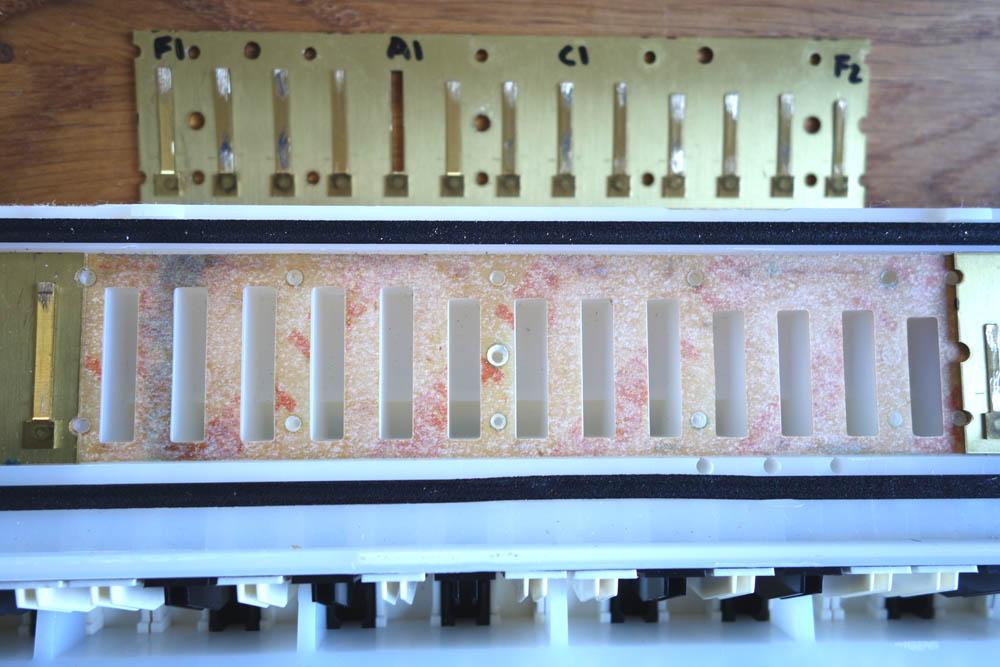 Yamaha P37D reed plate