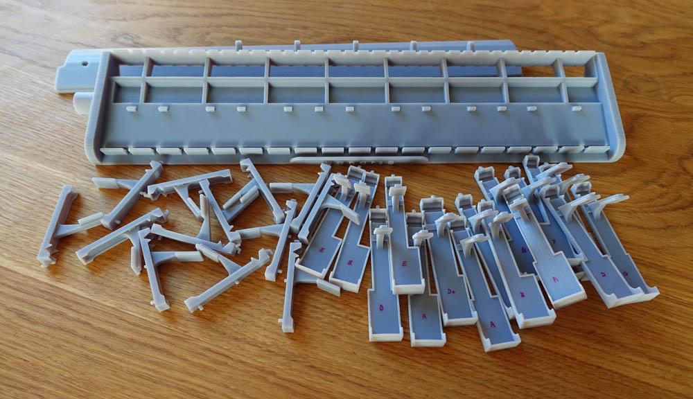 Melodica 3D printed parts