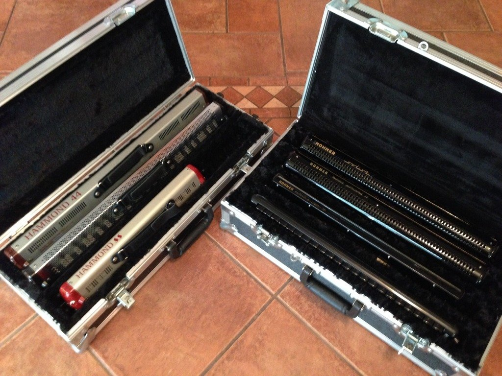 Hohner and Hammond Melodicas in ATA case