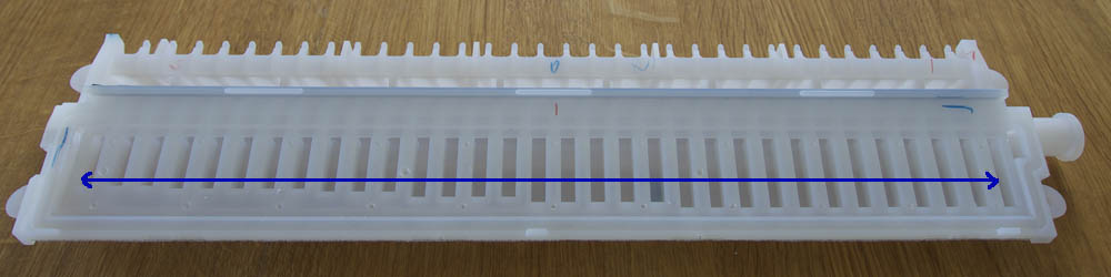 measuring the distance between reeds