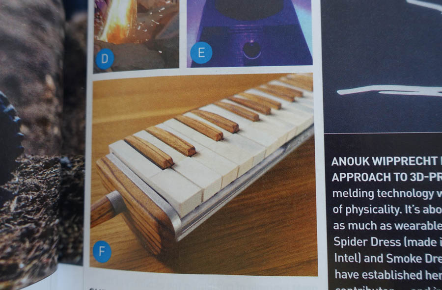 3D printed melodica in MAKE magazine
