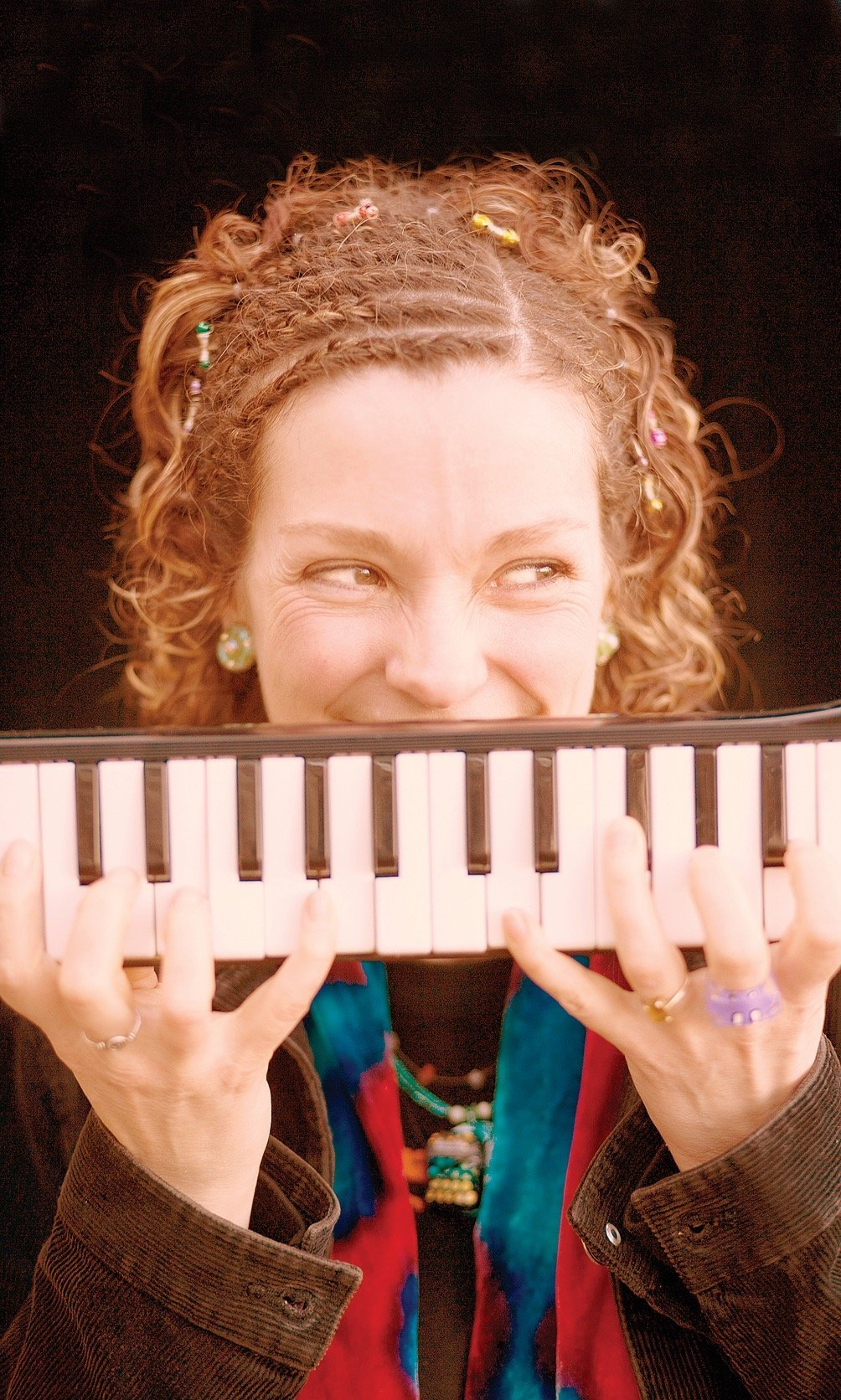 Karen Tweed and her melodica